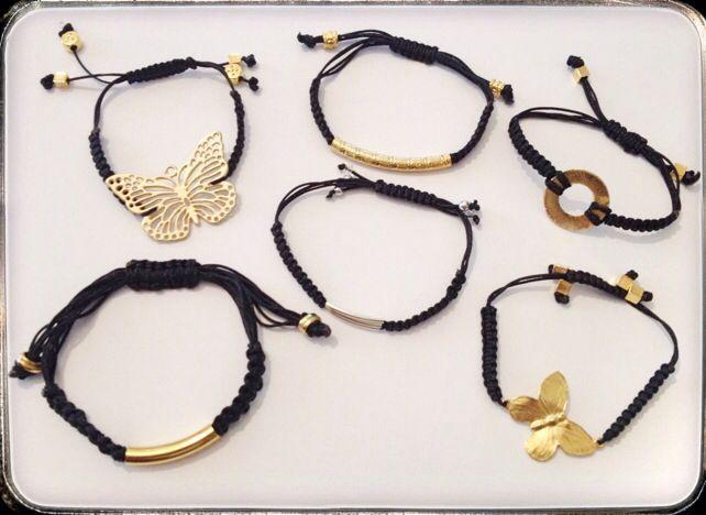 Black macrame bracelets