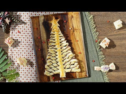 Nutella pastry Christmas tree