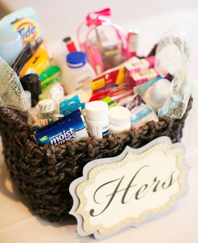 9 Ways To Make Your Wedding Guests Happy Bathroom BasketsDiy