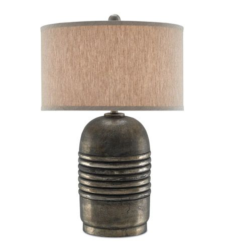 Currey & Company 6000-0172 Zenith 27 inch 150 watt Antique Silver Table Lamp Portable Light  photo