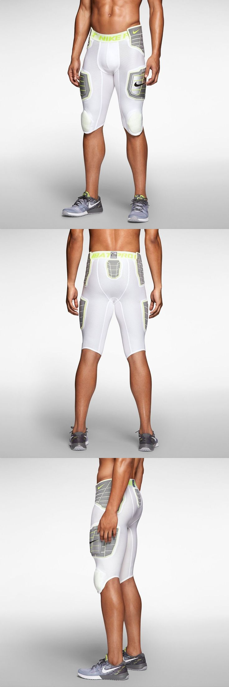 Protective Gear 21224: Nike Pro Combat 3.0 Hyperstrong 3 4 Compress Football 584387-101 White Men Pants -> BUY IT NOW ONLY: $59.99 on eBay!