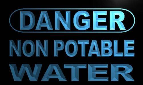 Danger Non Potable Water Neon Light Sign