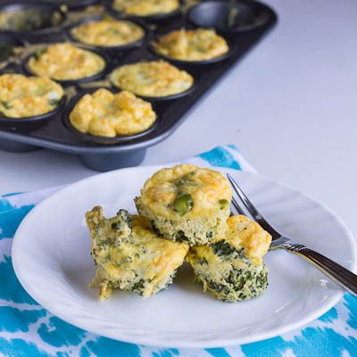 broccoli egg muffins- less than 200 calories a serving