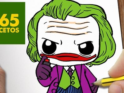 COMO DIBUJAR JOKER KAWAII PASO A PASO - Dibujos kawaii faciles - How to draw a Joker