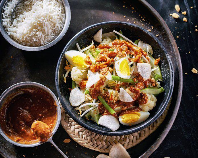 Gado gado - Indonesische groenten met ei