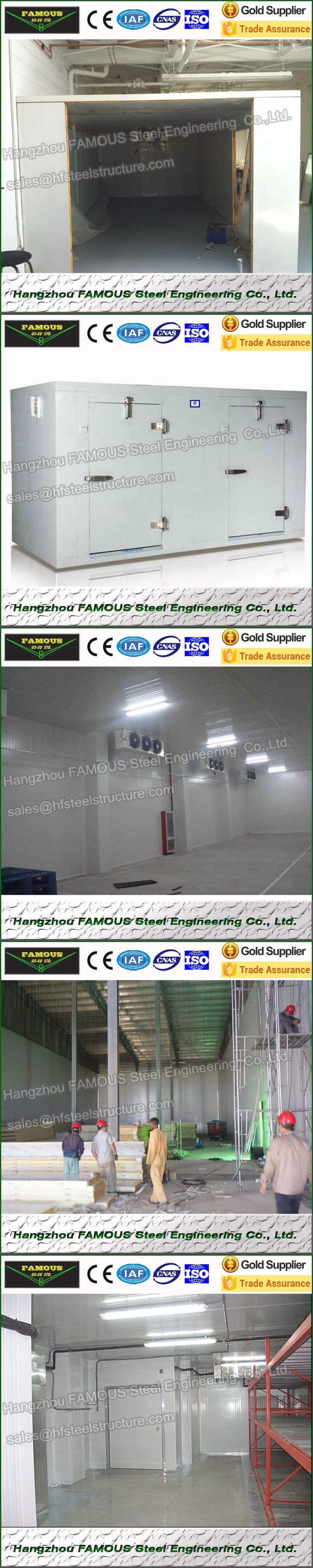 Walk In Cooler Room And Refrigerator Made of PU Sandwich Panel, Industrial Blast Freezers And Vegetables Cold Storage