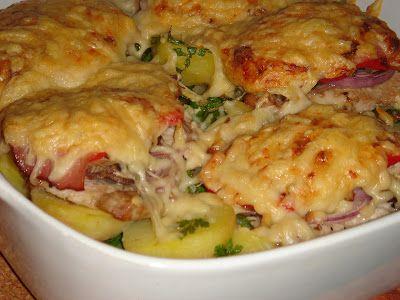 Nem vagyok mesterszakács: Frissen sült karaj színes zöldségekkel, sajttal, v...