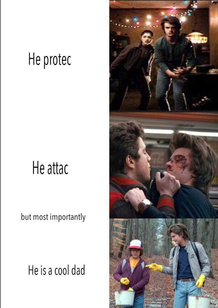 Image result for he protec stranger things
