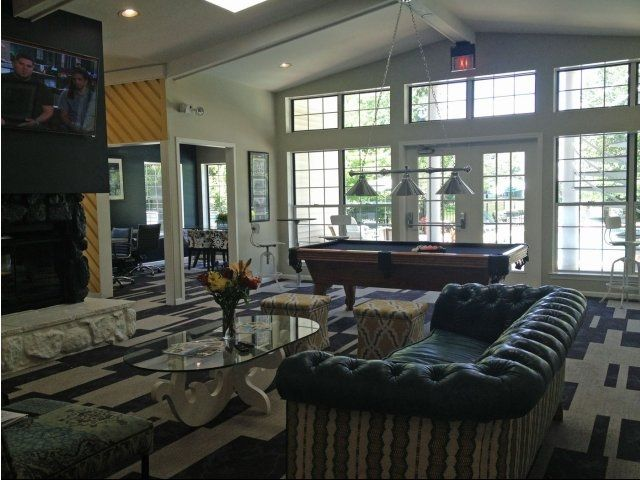 Captivating Modern Clubhouse For Resident Use, With Large Flat Screen TV, Business  Center, Pool. Flat Screen TvsPool TablesAnn ArborClubhousesArborsScreensApartments  ...