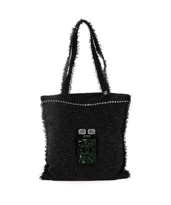 604b25dce97d CHANEL PRE-OWNED  ROBOT SHOPPING TOTE EMBELLISHED TWEED LARGE.  chanel   bags  hand bags  tote