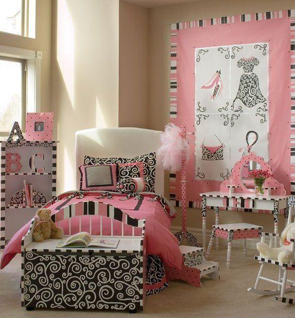 parisian room decorimages cest chic four piece girls bedding set kids decorating