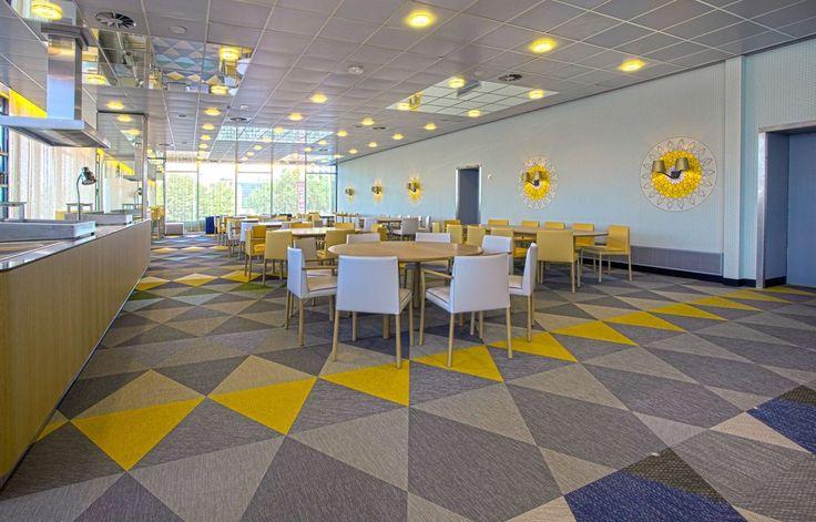 Bolon flooring in the restaurant Pieter Christiaan in Utrecht, Netherlands