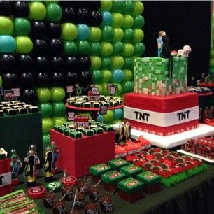 Hang a balloon wall. | 31 DIY Birthday Party Ideas That Will Blow Your Minecraft
