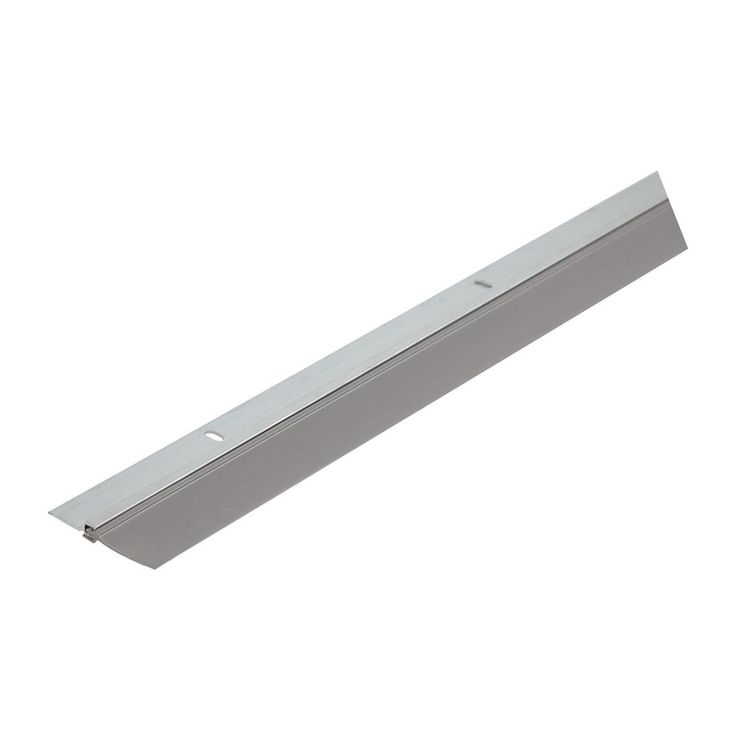 Single Seal 1-3/4 in. x 36 in. Gray Aluminum and Vinyl Door Sweep Contractor Pack of 50, Silver/Silver