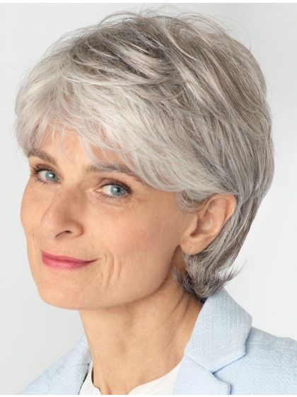 Wavy Synthetic Cropped Style Grey Wigs for women with chic style. Large selection of Grey Wig by HoWigs. Enjoy the promotion price and high quality.