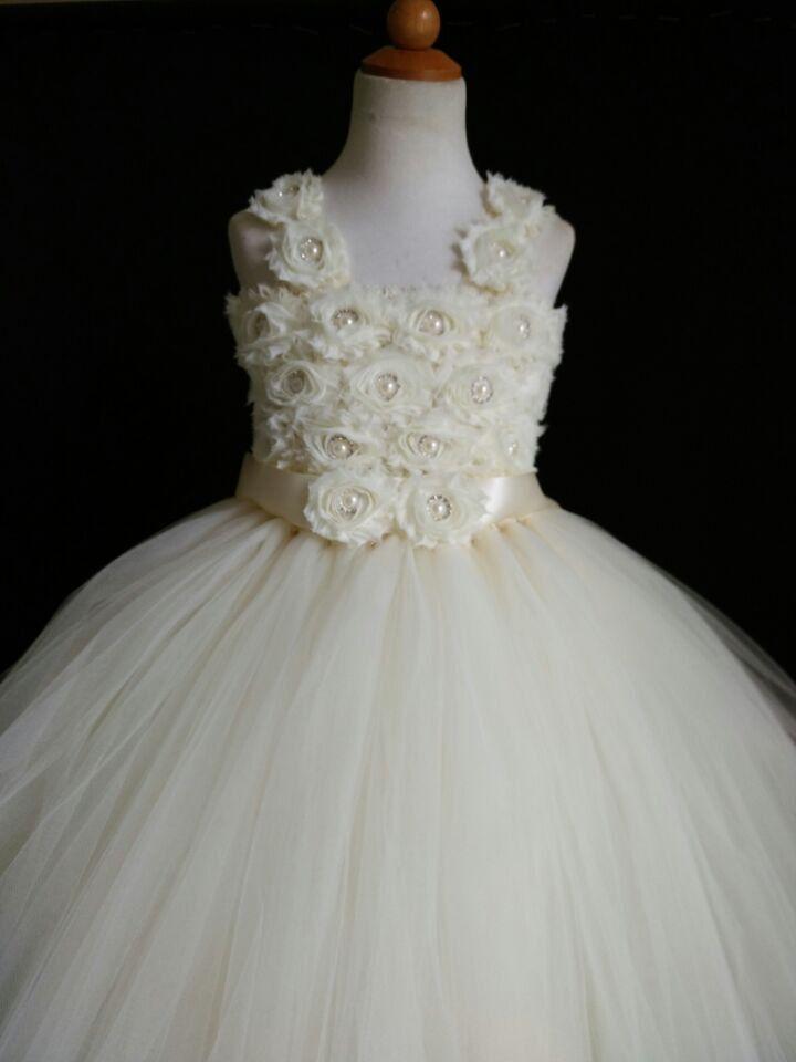 Ivory Flower Girl Tutu Dress Princess Dress от MagicTulleCouture