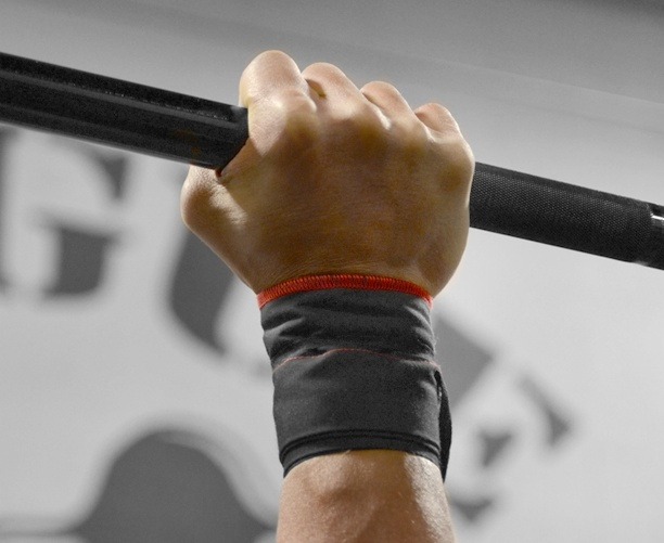 Rogue Fitness Wrist Strength Wraps for CrossFit - I do both yoga and CrossFit. It's hard to beat the combination of the two fitness routines for muscle tone, flexibility, and strength. The second workout for the Reebok CrossFit Games was just announced. 12.2 is a ton of Snatches... the Olympic lift not the nether regions. These wraps will really help give your wrists extra support with the weight over head.