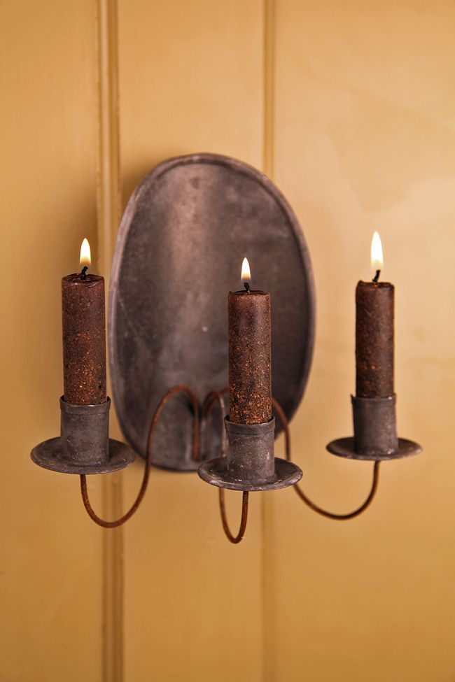 Oval 3 Arm Candle Sconce@ Circa Home Living