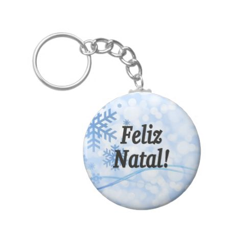 Feliz Natal! Merry Christmas in Portuguese bf Keychains