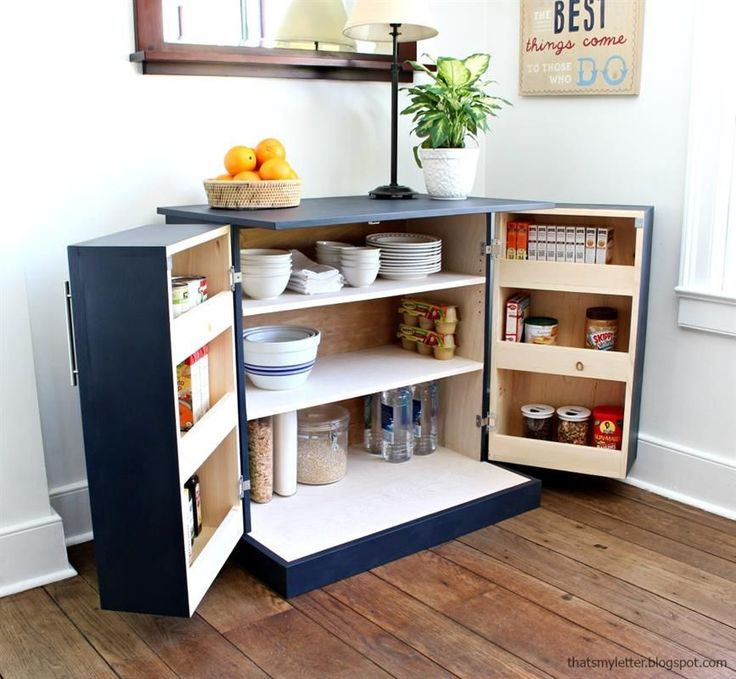 A freestanding pantry cabinet perfect for storage and additional counterspace.  Makes a great addition for small home with no pantry or apartment living and adds counterspace for serving or bar set up.  Alternatively provides great storage for your office space, craft room or work room.