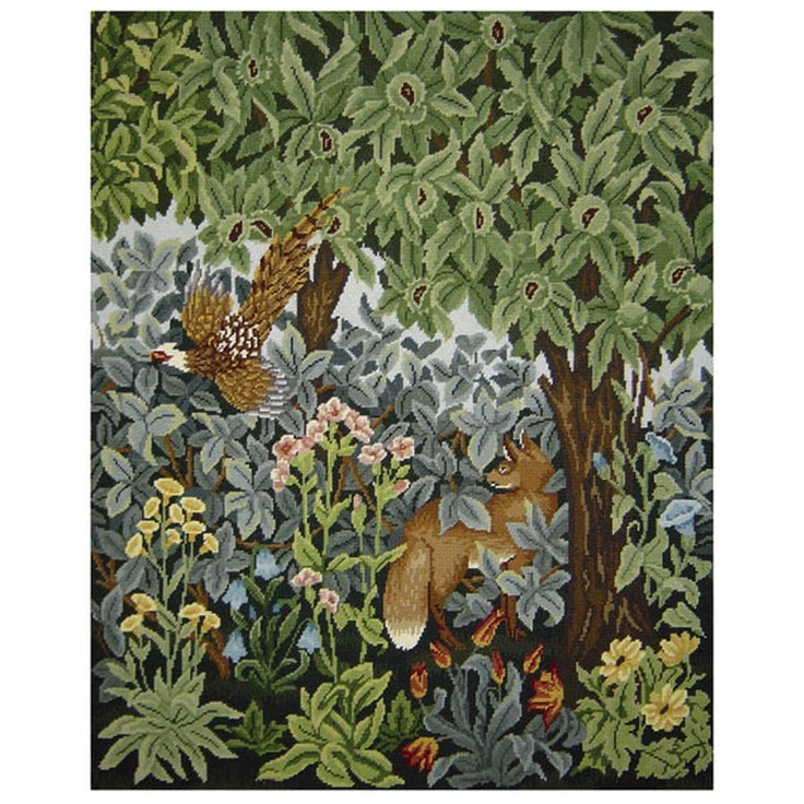 Greenery Fox and Pheasant - Ehrman Tapestry