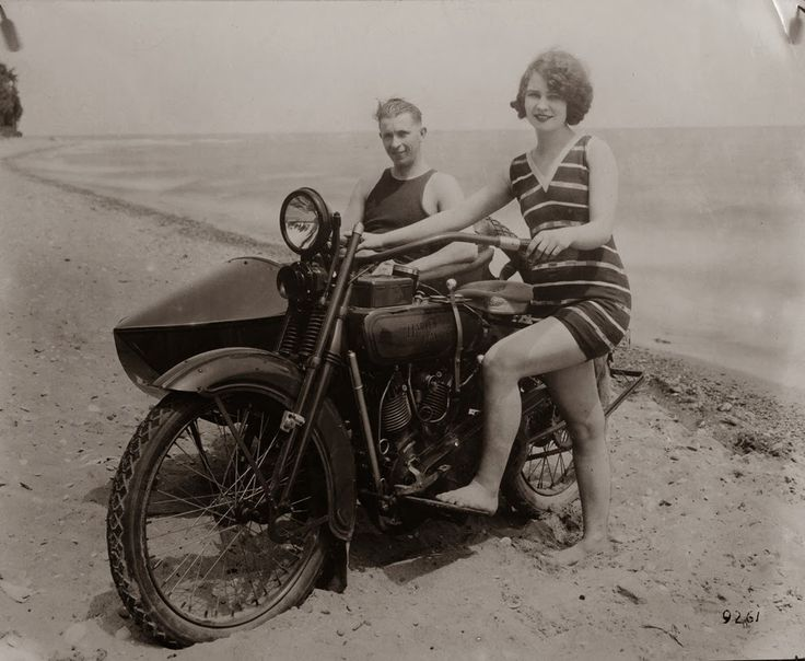 A woman alongside her Harley-Davidson in California, 1925 A Collection of 32 Badass Vintage Photographs of Women and Motorcycles