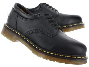 Dr Martens Mens 8053 5-eye black leather oxfords - UK SIZING