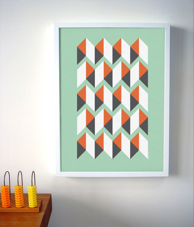Geometric pattern abstract art print abstract poster for Modern art prints posters