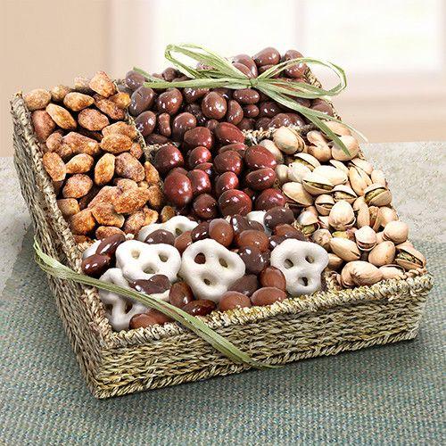 Mendocino Organic Chocolate & Nuts Gift Basket - OFG4008