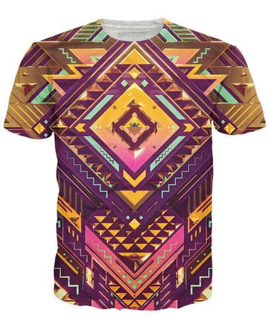 Golden Pattern T-Shirt - Rage On! - The World's Largest All-Over Print Online Retailer.