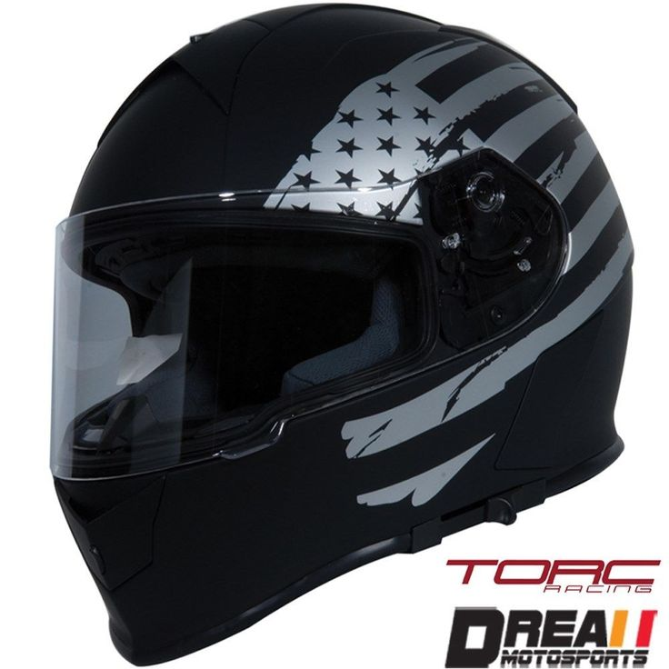 #apparel TORC T14 MATTE FLAT BLACK AMERICAN FLAG FULL FACE MOTORCYCLE HELMET DOT XS - XXL please retweet
