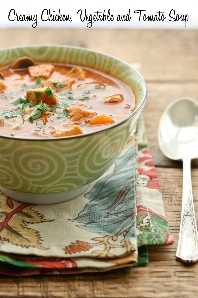This Creamy Chicken and Vegetable Soup is one of Carrie Vitt's favorites. It keeps in the refrigerator for a few days and you can easily pack some in an insulated thermos for a hot lunch.