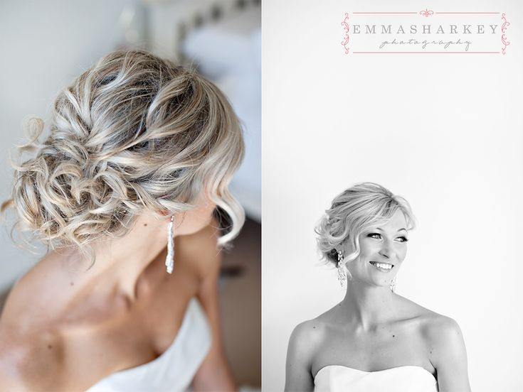 Emma Sharkey Adelaide Wedding Photographer  Lovely relaxed soft swept updo with soft curls for this darling wedding up do.  Hair and makeup by Sarah at Tempest Hair at Prospect in South Australia.  Stunning Summer Wedding hair!