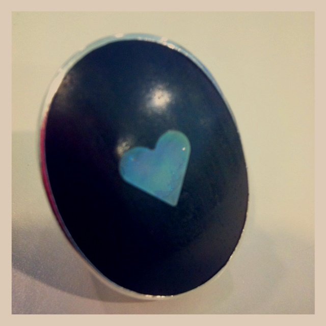 Gem Kingdom Heart Ring  Bought from Unit in Canberra - 28 Lonsdale Street Braddon