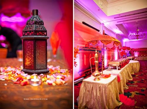 Sangeet set up? i like the lantern with flowers.