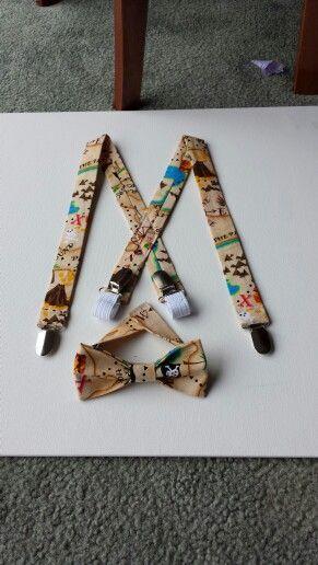 Suspenders & bowtie for the little men!