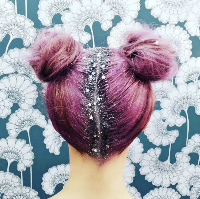 Glitter Roots Should Be Your Holiday Party Hair Hack via Brit + Co