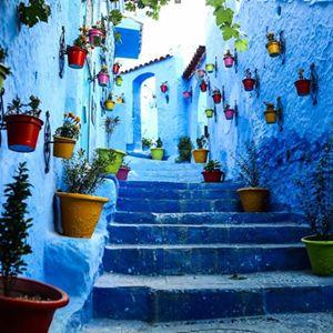 365 WONDERS OF THE WORLD: #152   Discover the beautiful blue city of Chefchaouen, Morocco  Read more>> http://www.travelstart.co.za/lp/casablanca/flights  #travelstart #365wondersoftheworld #africa #morocco