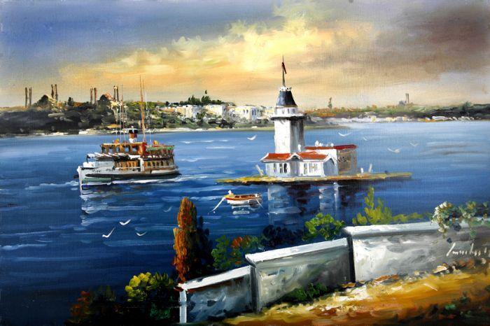 Gemi ve Kız Kulesi Tablo kkt011