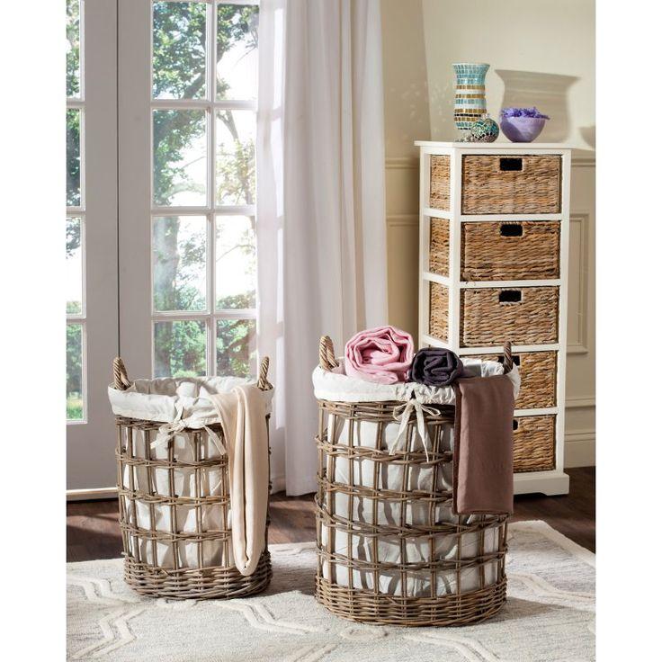 Safavieh Adisa Wicker Laundry Hamper - Set of 2 - SEA7009A