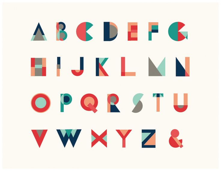 Geometric Typeface - Jaclyn Whalen Design