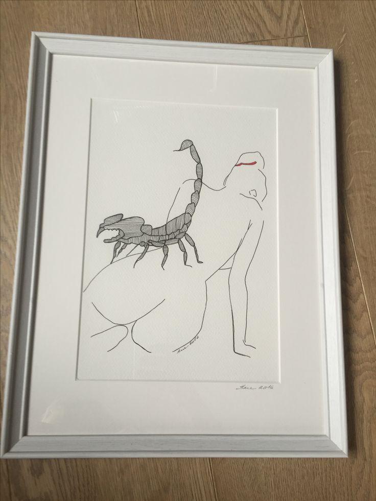 Paint / body / women / scorpion