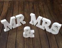 2015 горячая распродажа 1 компл. мистер и миссис деревянный письма свадебные украшения присутствует сельский свадебные декор свадебные украшения центральные