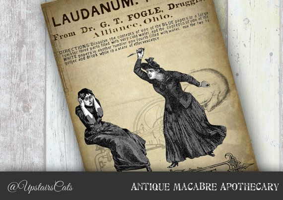 Apothecary Vintage Print Macabre Steampunk Style by UpstairsCats