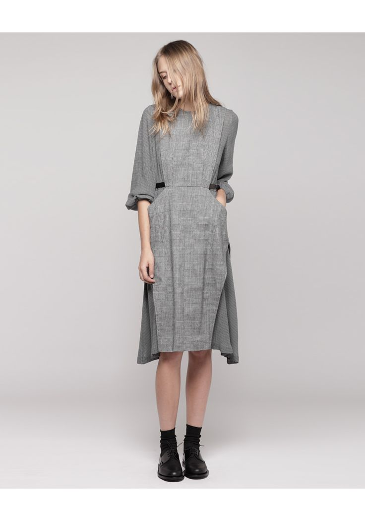 Toga Pulla / Check Wool Dress
