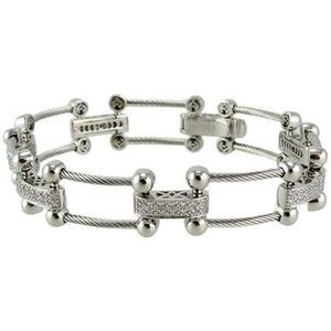 Philippe Charriol 18K White Gold Diamond Bracelet - Jewelry | Portero.com
