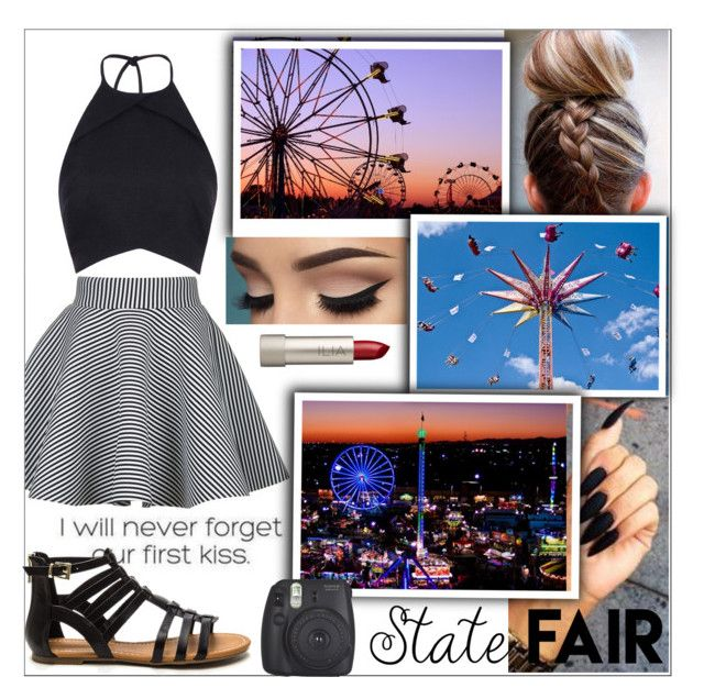 """""""state fair outfit"""" by yani122 ❤ liked on Polyvore featuring Rare London, Rebson, Fujifilm, Ilia, statefair and summerdate"""