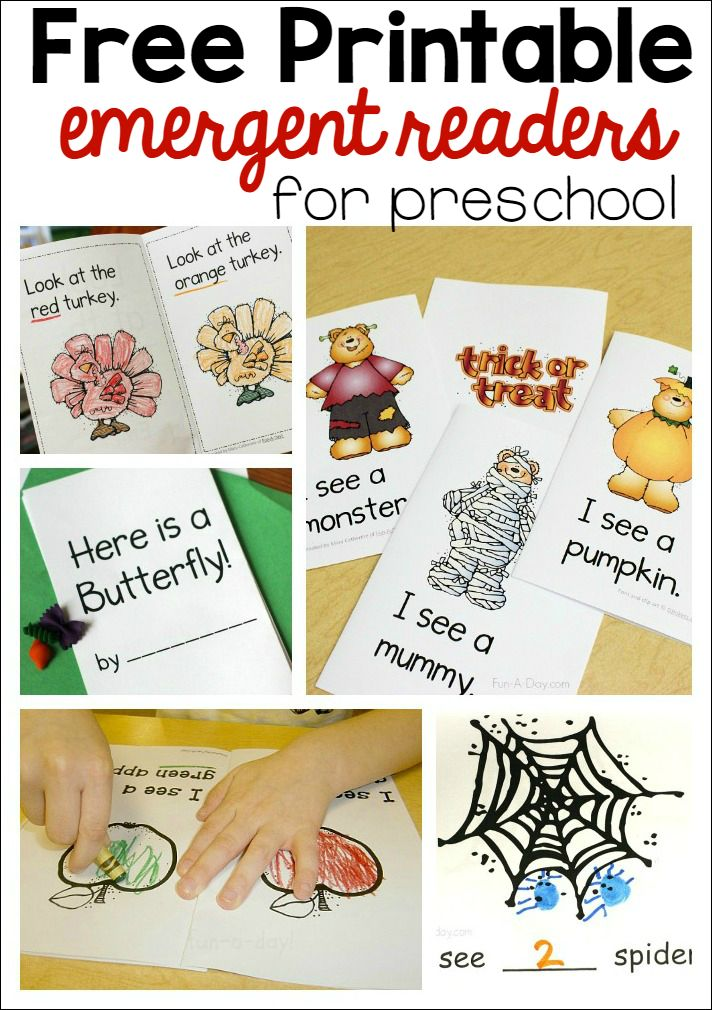These FREE printable emergent readers are perfect for preschoolers!