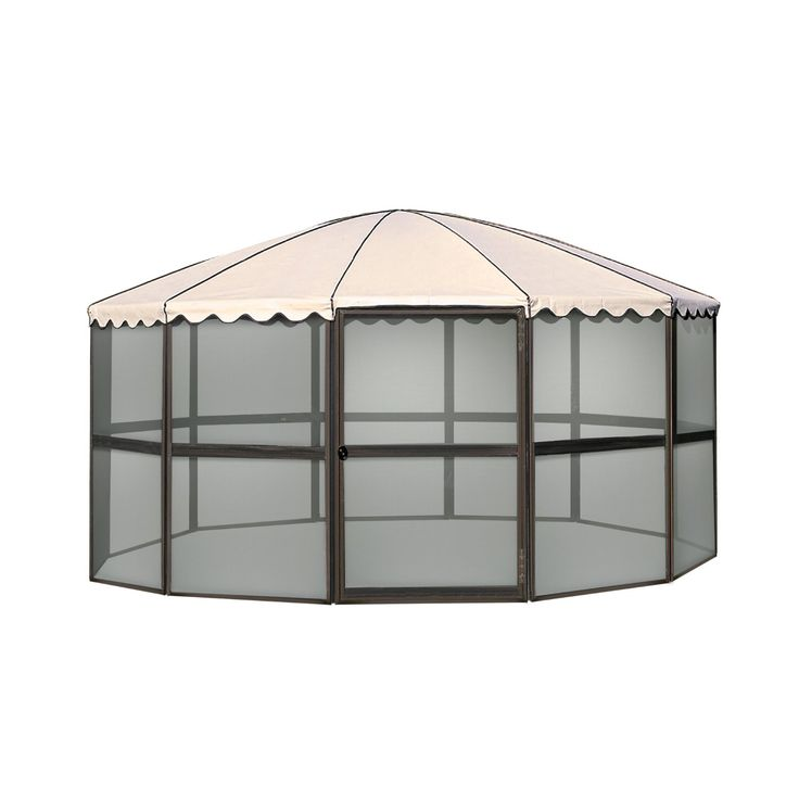 Amazon.com: Casita 23165 12 Panel Round Screen House, Chestnut Frame With