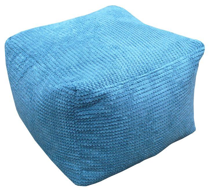 £24 Bubble Bean Bag Cube In Teal | Departments | DIY at B&Q